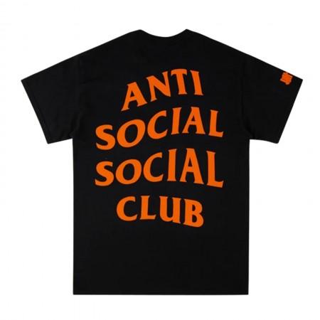 Camiseta Anti Social Social Club x Undefeated - Paranoid Preta