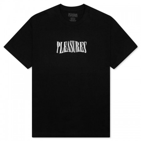 "Camiseta Pleasures ""Party Logo"" Preta"