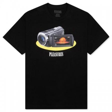 """Camiseta Pleasures """"Recording"""" Preta"""