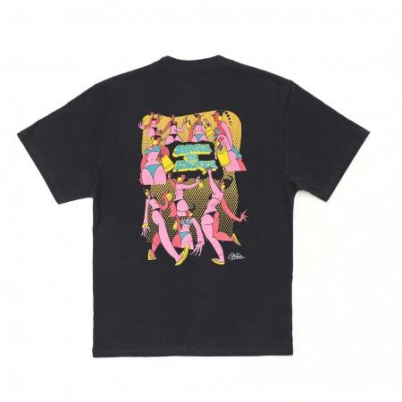 Camiseta à x Mina Mania Preta