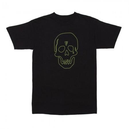 Camiseta Vlone x Neighborhood - Green Skull Preta