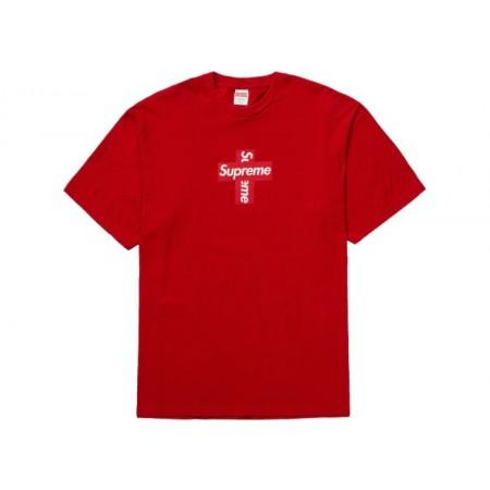 Camiseta Supreme - Cross Box Logo Vermelha