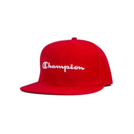 Boné Champion Aba Reta - Script Logo Baseball Vermelho