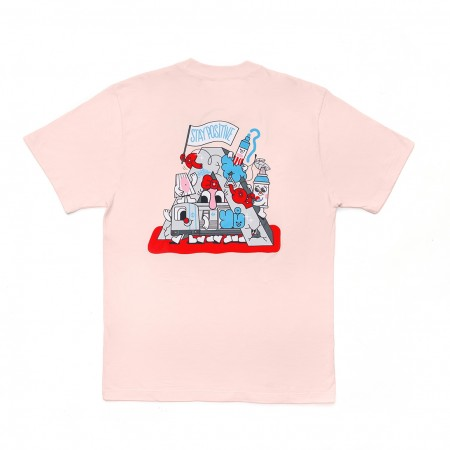 Camiseta à x Yubia Rosa Claro