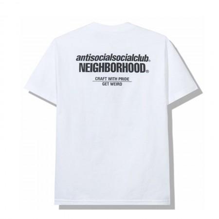 Camiseta Anti Social Social Club x Neighborhood - Cambered Branca