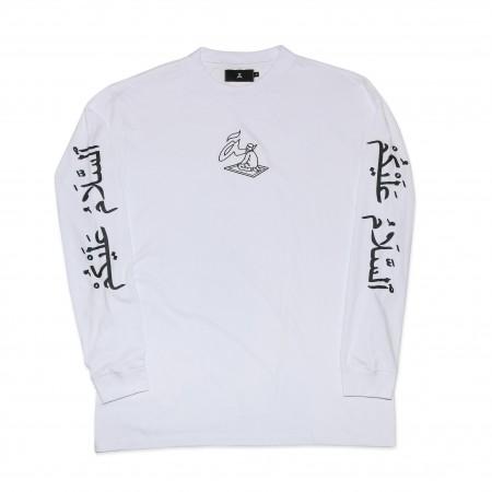 """Camiseta Manga Longa à """"Salamaleico"""" Branca"""