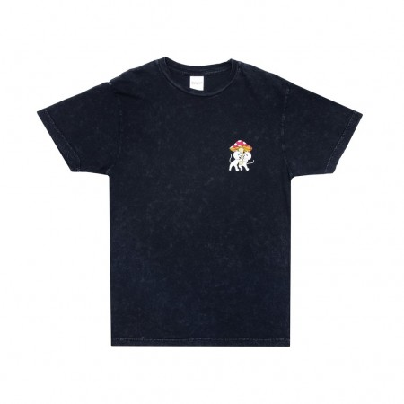 "Camiseta Ripndip ""Sharing Is Caring"" Mineral Wash Preta"