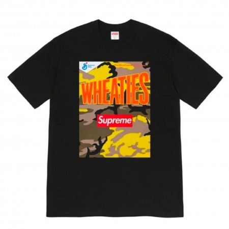 """Camiseta Supreme """"Wheaties"""" Preta"""