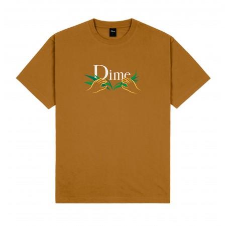 """Camiseta Dime """"CLASSIC GRASS"""" Marrom"""
