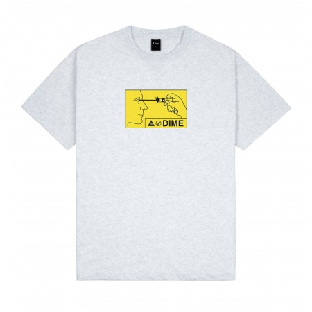 """Camiseta Dime """"Vision"""" Cinza"""