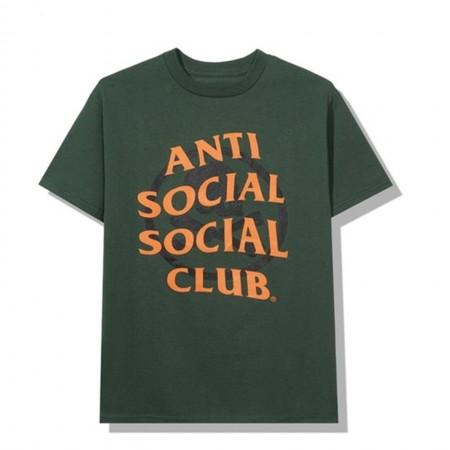 Camiseta Anti Social Social Club x Neighborhood - Cambered Verde
