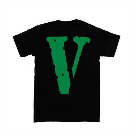 Camiseta Vlone - Green Weed Leaf Preta