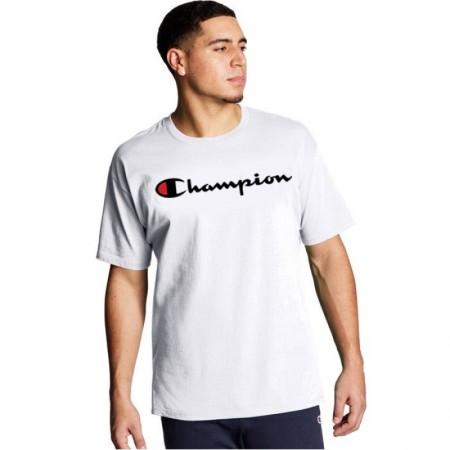 Camiseta Champion - Script Logo Branca